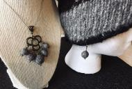 Felted Aromatherapy Necklace and Earrings